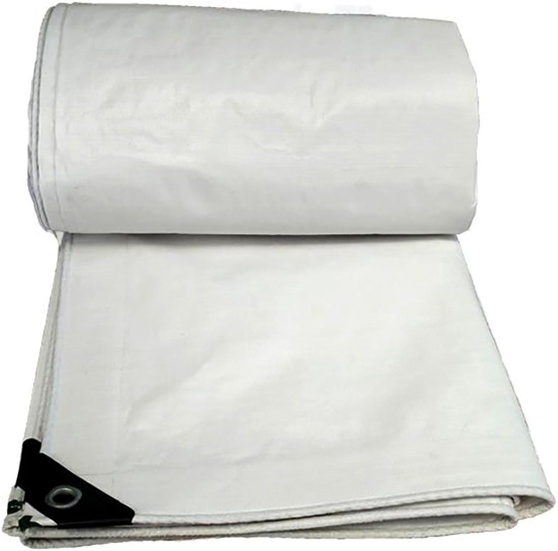 Tarps White Tarpaulin, PE polyethylene Tarpaulin, Waterproof Sunscreen Tarpaulin, Sticky steam Truck Tarpaulin Canvas, Thickness 0.3mm, 180g m2, 15 Size Options (Size   8m10m)