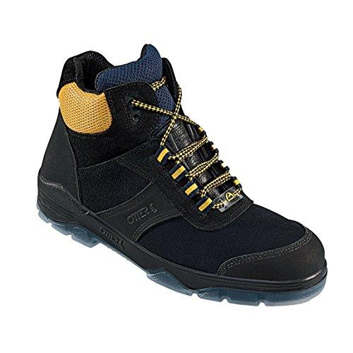 Otter New Basics Comfort 98452/554-44, Unisex-Erwachsene Sicherheitsstiefel, Mehrfarbig (schwarz/gelb), 44 EU (9.5 UK)