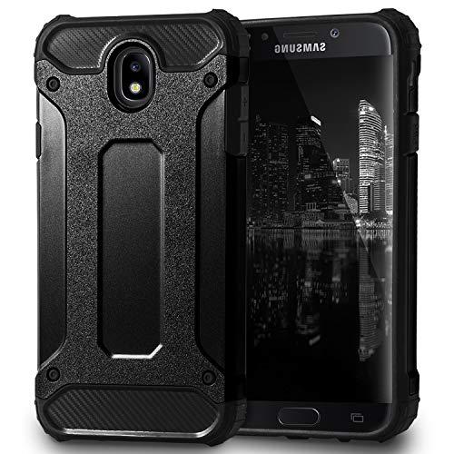 Passend für Samsung Galaxy J7 (2017) DUOS Hülle | in Schwarz | Hybrid Hard-Hülle