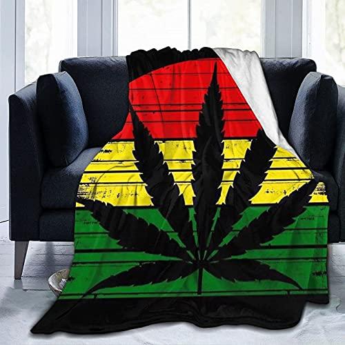 Mantas de flanel de bebé unisex para niños, niñas, mantas suaves y difusas, mantas de reggae y malezas, manta decorativa de forro polar para silla, cama, 100 x 128 cm