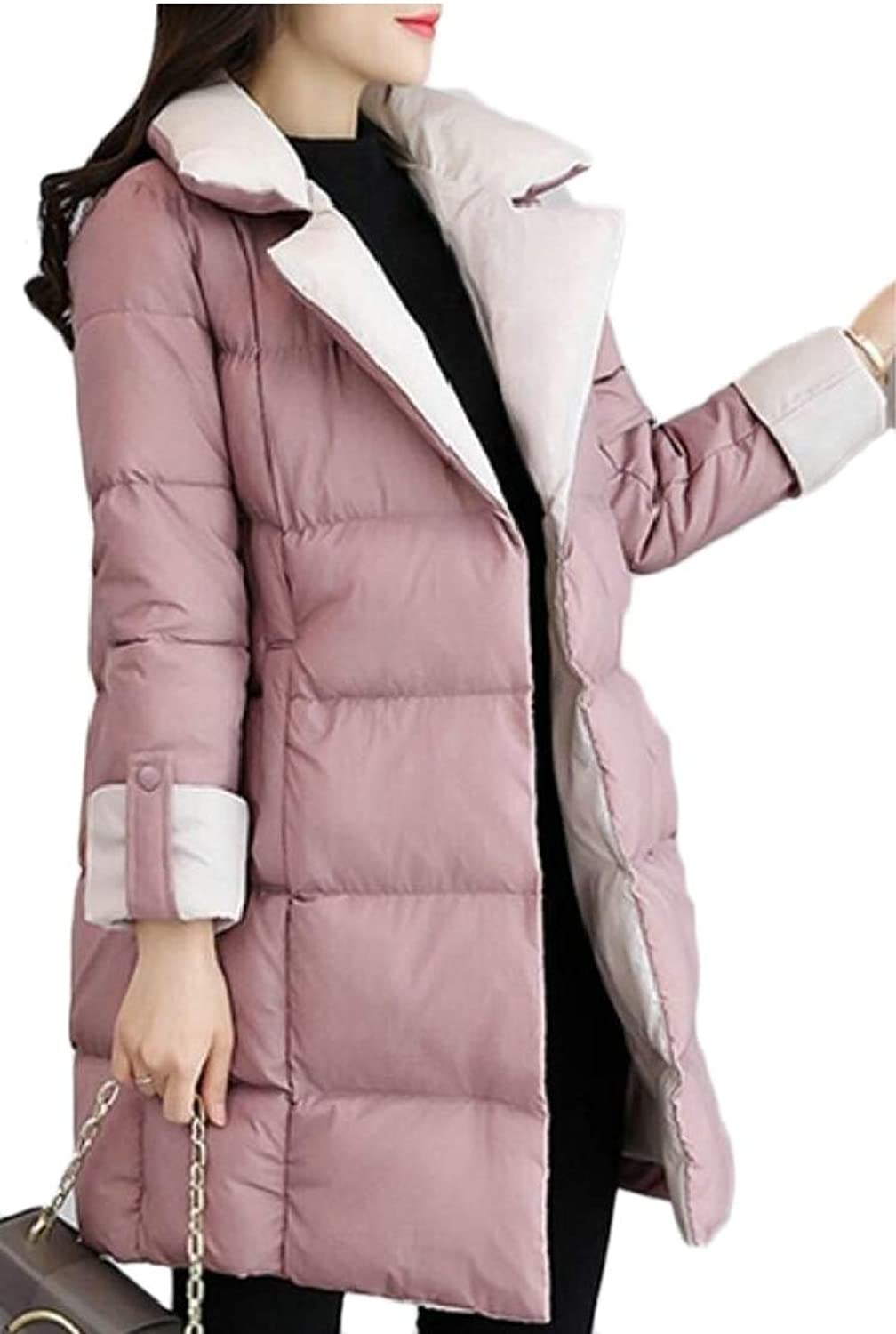 XQS Women's Warm Parka Jacket Outdoor Coat Anorak Down Parka Coat