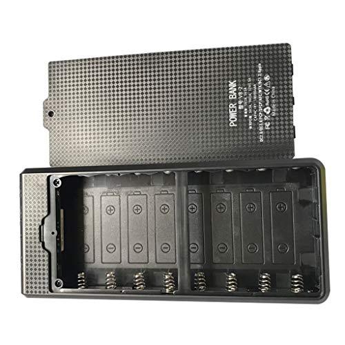 WTALL Durable Desmontable QC3.0 USB LCD 8x18650 Caja de batería Caja de Carga PowerBank Shell