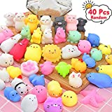 OCATO Squishies Mochi Squishy Toys 40pcs Party Favors for Kids Mini Squishy Kawaii Mochi Animal Squishies Cat Unicorn Squishy Mini Squeeze Stress Relief Toys for Kids Adults Treasure Box Toys, Random