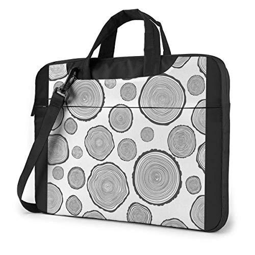 Vintage Tree Rings Laptop Shoulder Bag Compatible Laptop Messenger Shoulder Bag With Strap,