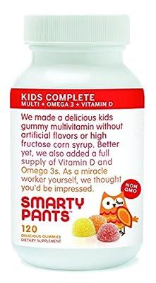 SmartyPants- The Total Vitamin Treat: Pediatrician-approved Gummy Multi-Vitamin with Omega 3 & Vitamin D
