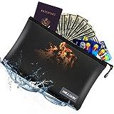Fireproof Money Bag, Waterproof and Fireproof Document Bags, Fireproof Safe Storage Pouch, 10.6' x 6.7' Fireproof Bag for A5 Document Holder, Bank Deposit, Ipad, Cash, Passport