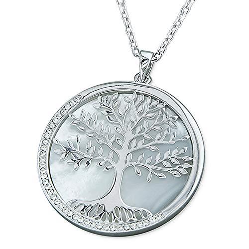 Kiara Jewellery - Colgante de plata de ley 925 con diseño de árbol de la vida en un...