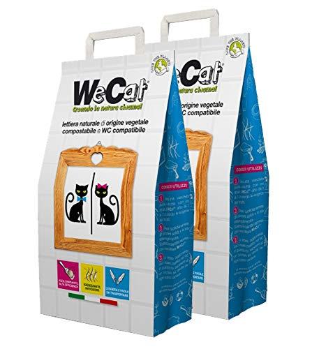 WeCat 70 Giorni (Set 2 Sacchi da 3,5 kg) Sabbia Lettiera Gatti Agglomerante Vegetale