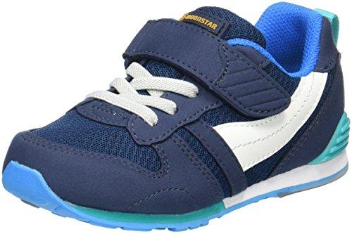[ムーンスター] スニーカー 運動靴 14~21cm 0.5cm有 男の子 女の子 キッズ MS C2121 マリン 16 cm 2E