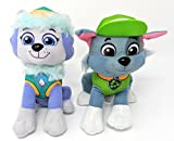 Paw Patrol 2 Pcs Character Plush Set Everest & Rocky 8' Plush Doll