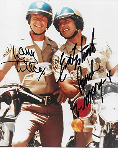 Erik Estrada & Larry Wilcox CHiPs 8X10#4
