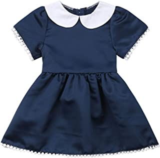 Zoiuytrg Toddler Baby Girl Princess Dress Kids Summer Peter Pan Collar Tassels Party Wedding Bridesmaid Dresses