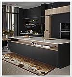 MARKOTEX Tappeto da Cucina, passatoia Diego Line Antiscivolo (Marrone, 57x140)