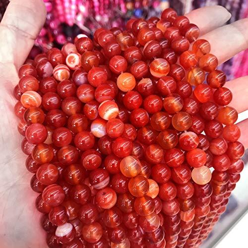 Naturwunder - Perlas de ágata de piedra preciosa, 8 mm, 6 mm,...