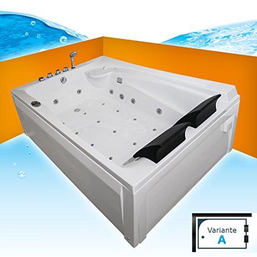 Whirlpool Vollausstattung Pool Eckwanne Wanne A612H-A Reinigungsfunktion 135x180, Selfclean:ohne +0.-EUR, Sonderfunktion2:ohne 0.-EUR