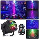 Sfera da discoteca girevole, luce LED RGB per feste con telecomando e cavo USB, luce da palcoscenico, luce da discoteca, con diversi motivi per feste, compleanni, Halloween, matrimoni, Natale
