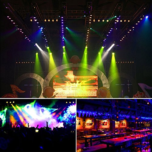 Cikonielf Luz de escenario 36 LED con 1 mando a distancia, RGB, LED, luz de escenario, DJ, discoteca, KTV, Pub, lámpara de efectos DMX, control automático de sonido, modo ZQ-B53Y EU 220 V-240 V