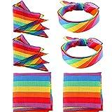 VAMEI 6 STÜCKE Gay Pride Regenbogen Bandana, Gay Pride Flagge, Unisex Kopf und Krawatte schal stirnband LGBT armband