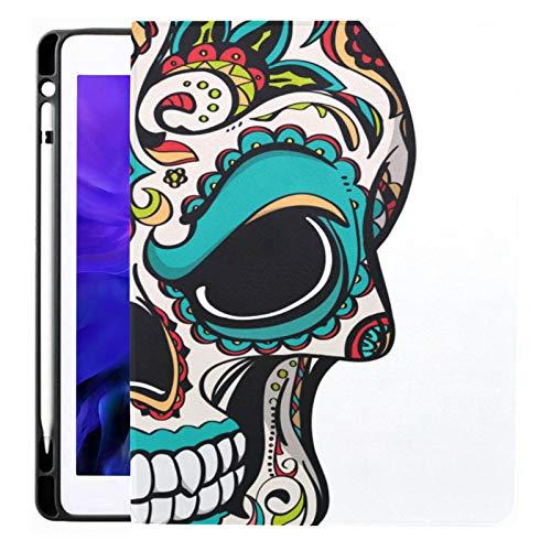 Brigh Ethnic Gothic Sugar Skull per Ipad Pro 12,9 pollici 2020 Custodia Ipad con rilascio con portamatite con portamatite Custodie Ipad Pro Tpu senza coperchio pieghevole Custodie Ipad Pro Modello ap