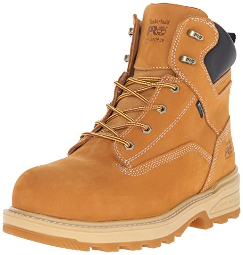 Timberland PRO Men's 6 inch Resistor Comp Toe WP INS Work Boot, Wheat Tumbled Full Grain Leather, 9.5 M US