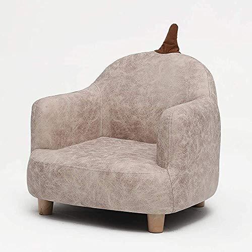 Kinder zurück kleines Sofa, Sessel Sicherheit, Massivholzmöbel 4 Farben,Grey