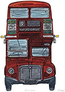 Barry Goodman Routemaster Canvas Print, Polyester, Multi-Colour, 40 x 50 cm