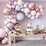 No/Brand 169 Piezas Globos Guirnalda Arco Oro Rosa Confeti Globo Boda cumpleaños Fiesta cumpleaños decoración niños Baby Shower