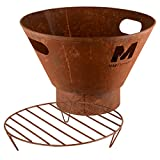 RM Design Feuerschale aus Metall Terrassenofen für den Garten in Rost Durchmesser 53 cm