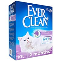 HIGHLY ABSORBENT CLUMPING CAT LITTER: Specially formulated clumping cat litter that prevents liquid waste from reaching the bottom of the litter tray where odours can form FRESH LAVENDER SCENT: provides continuous freshness for your cat litter tray a...
