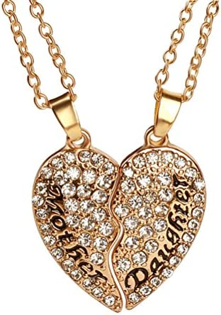 OULII Mother Daughter Pendant Necklace for Mom Best Gold product image