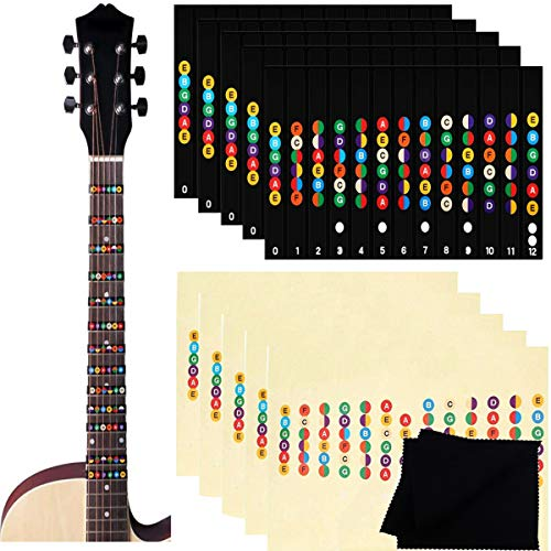 Etiquetas de Guitarra Notas Pegatina,Biluer 10PCS Pegatinas para Tabla de Trastes de...