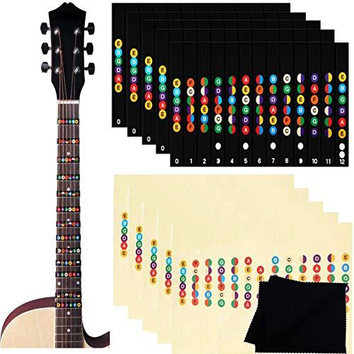 Etiquetas de Guitarra Notas Pegatina,Biluer 10PCS Pegatinas