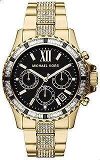 Michael Kors Parker Blush Women's Black Dial Stainless Steel Band Watch - Mk5828, Analog Display