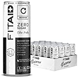 FITAID Zero, 5 Calorie, Number 1 Post-Workout Recovery Drink, Sugar Free, Keto Diet, BCAAs, Quercetin, Glucosamine, Omega-3s, Green Tea, No Artificial Sweeteners, 12-Oz. Can (Pack Of 24)