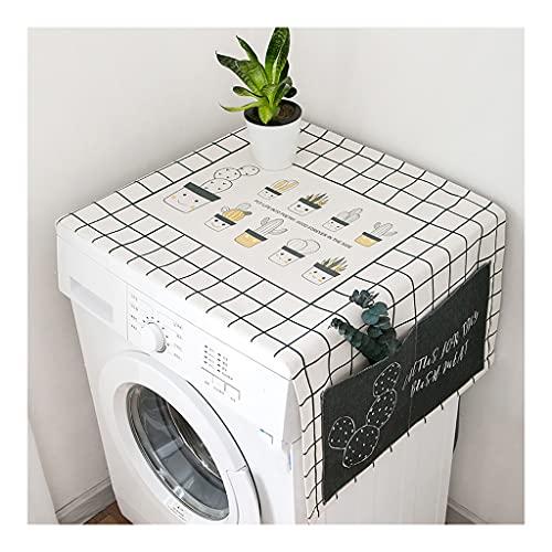 copri lavatrice per interno Washing Machine Cover Asciugamano Moda Frigorifero Semplice Frigorifero Forno A Microonde Panno Panno Antipolvere E Copertura Impermeabile Con Tasch(Size:170X70CM,Color:C)