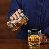 Homii Whisky Gläser, Whiskeygläser aus Kristall Set Geschenk, 2-teiliges,300ml - 3