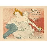 Toulouse-Lautrec Debauchery Artist's Catalogue Extra Large Art Print Wall Mural Poster Premium XL アンリドトゥールーズロートレックアーティスト大アート壁ポスター
