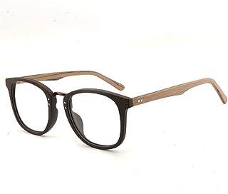 SGJFZD Men's Large Frame Wood Frame Glasses Frame Retro Plate Glasses Frame Handmade Fashion Flat Frame (Color : Coffee)