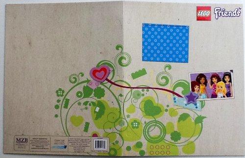 LEGO Friends 2bolsillo diseñado, nombre marca escuela carpeta, color BLUE Square - Framed Picture W/star