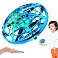 Drone Hand Control, Kids Hand Helicopter Quadcopter Infrared, Hand Remote Controlled Induction Levitation UFO Drone with 360°Rotating and Shinning LED Lights USB Charger, Hover Flight Outdoor Indoor