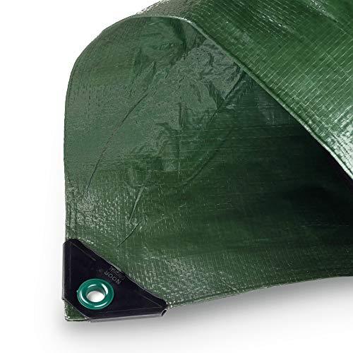 NOOR Abdeckplane Hobby 120g/m² Grün I 1,5 x 1,5 m I Allzweckplane für Schutz vor Witterung I Ideal für den Garten I UV-stabilisiert, beidseitig beschichtet, wasserfest, abwaschbar & langhaltig