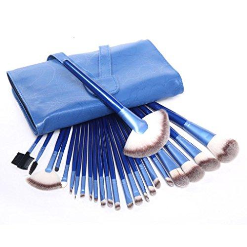 Maquillage pinceau ensemble x 24Pcs+1 x sac cosmétique----HUI.HUI Pinceaux Sets Maquillage Brosse Make Up Pour Beauté Premium Fondation Mélange Blush Les LèVres Yeux Visage Poudre Cosmétiques (Bleu)