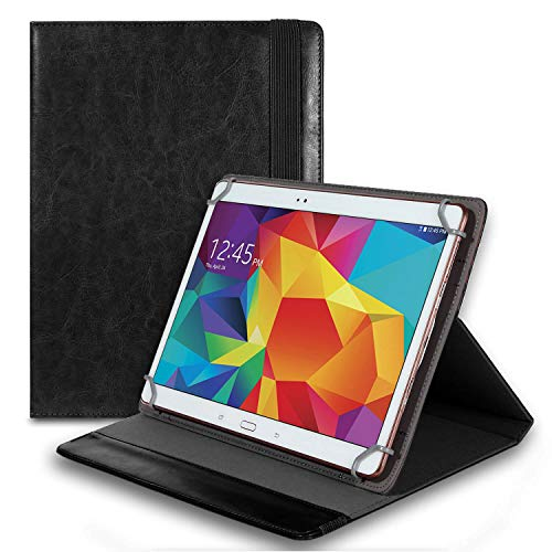 Tablet Case for Universal 10 Inch   Black Synthetic Leather Bag   Smooth Design