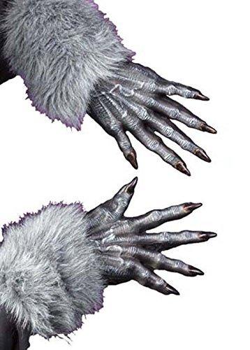 Gants de loup-garou gris Halloween