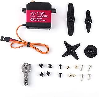 Digital Servo Motor, 20KG Digital Servo High Torque Full Metal Gear Waterproof RC Servo Aluminium Case with 25T Servo Arm for 1/8 1/10 RC Car Crawler Robot RC Model DIY,Control Angle 180°,DS3218MG
