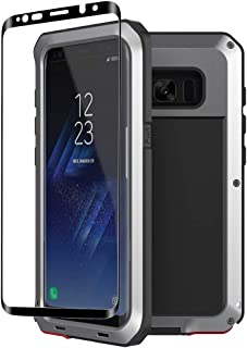 Galaxy S8 Plus case,Tomplus Extreme Hybrid Armor Alloy Aluminum Metal Bumper Soft Rubber Military Heavy Duty Shockproof Hard Case For Samsung Galaxy S8 plus (Silver)