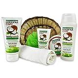Reimarom Handverpacktes Wellness Geschenkkorb Kokos Creme mit Kokos Duschgel sowie Bodylotion und...