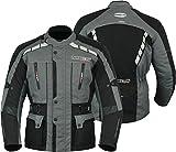 MBS MJ21 James Motocicleta Motocicleta larga chaqueta de viaje textil (antracita, S)