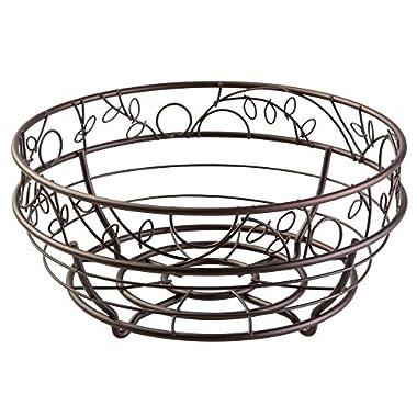 InterDesign Twigz Fruit Bowl – Wire Fruit Basket for Kitchen Tables, Bronze