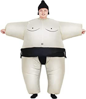JYZCOS Inflatable Sumo Wrestler Suits Wrestling Costumes Fancy Dress for Halloween Party